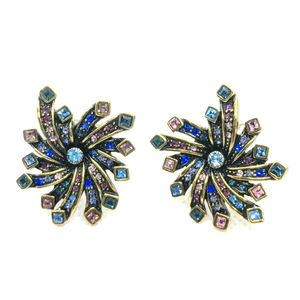 Heidi Daus Art Deco Swarovski Earrings (Clip On)